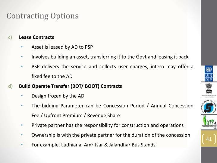 Contracting Options