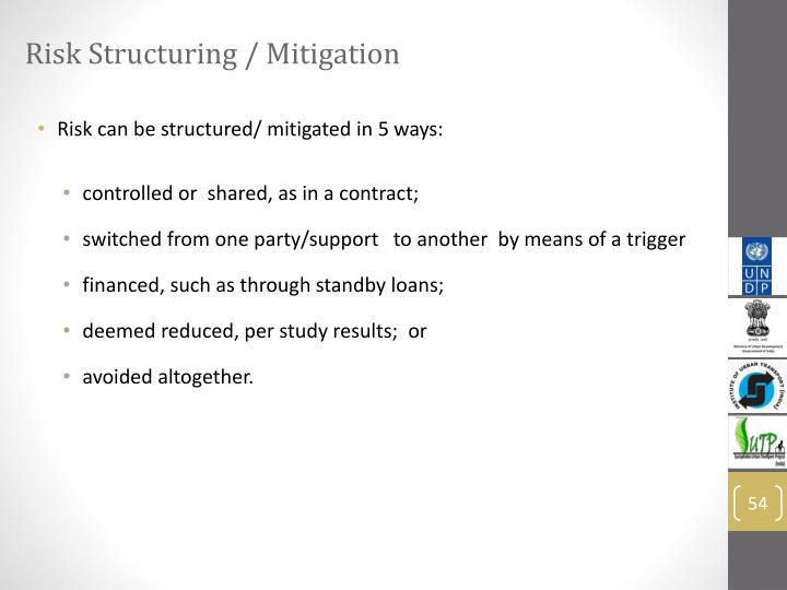 Risk Structuring / Mitigation