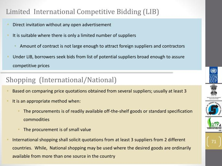 Limited  International Competitive Bidding (LIB)