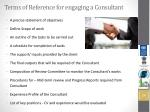 terms of reference for engaging a consultant