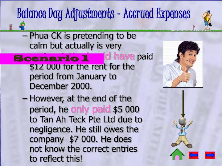 Balance day adjustments accrued expenses