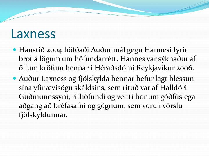 Laxness