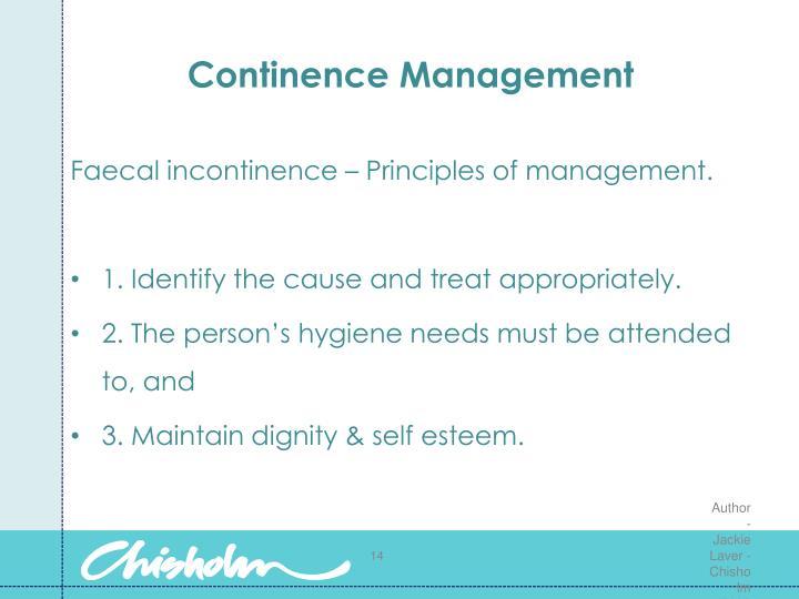 Continence Management