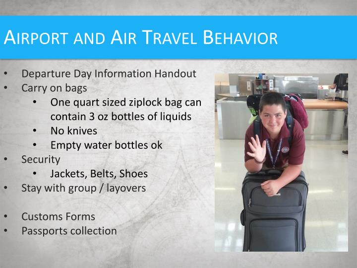 Airport and Air Travel Behavior