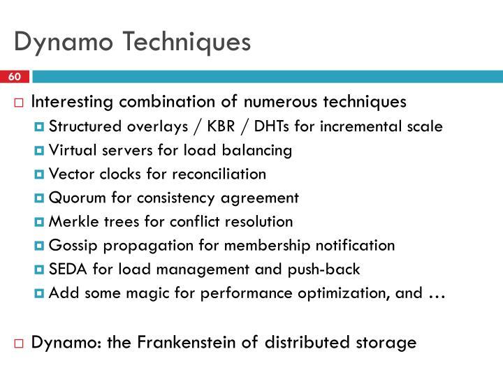 Dynamo Techniques