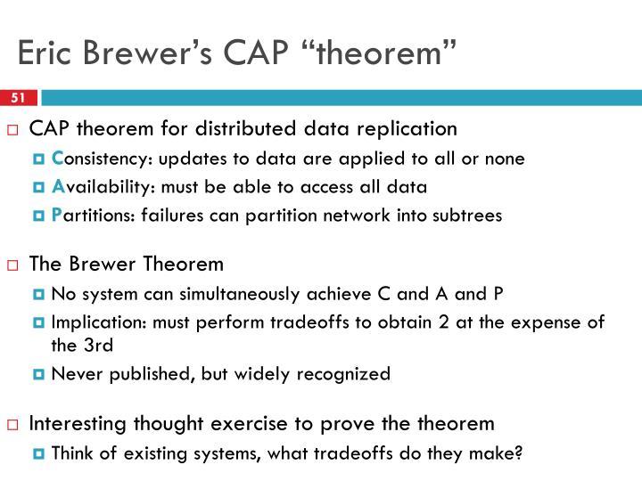 Eric Brewer's CAP