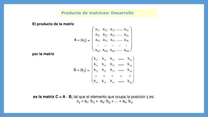 El producto de la matriz