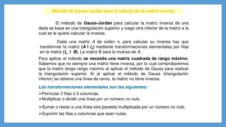 Método de Gauss-