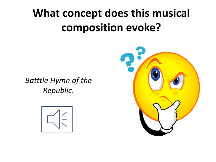 What concept does this musical composition evoke?