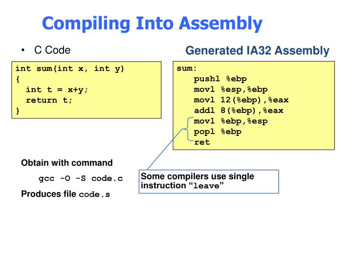 """Some compilers use single instruction """""""