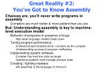 great reality 2 you ve got to know assembly