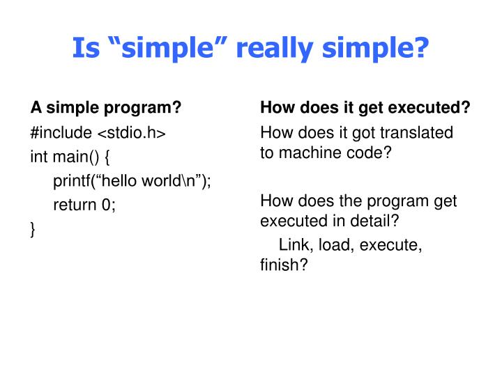 "Is ""simple"" really simple?"