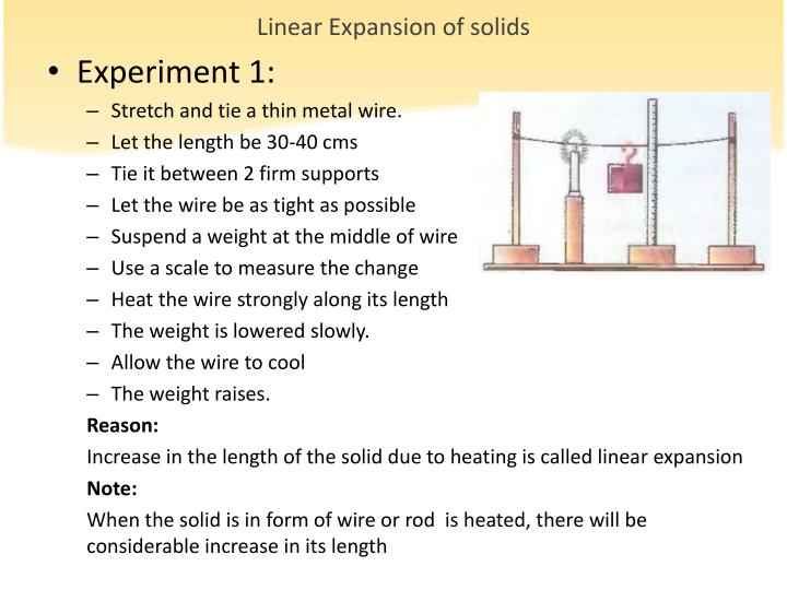 Linear Expansion of solids