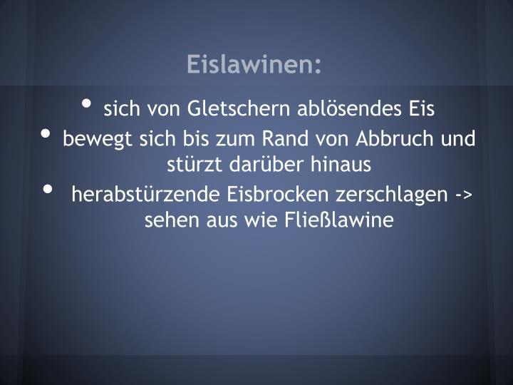 Eislawinen: