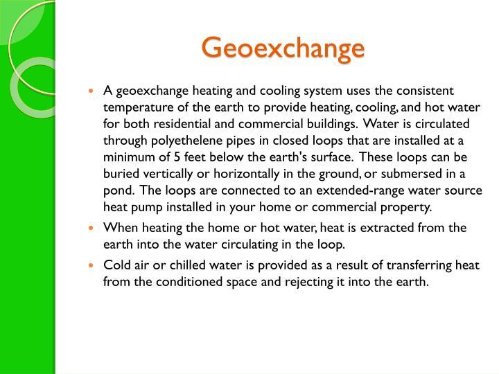 Geoexchange