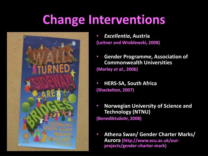 Change Interventions