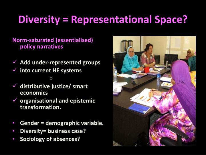 Diversity = Representational Space?