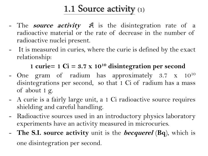 1.1 Source activity