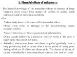 2 harmful effects of radiation 2