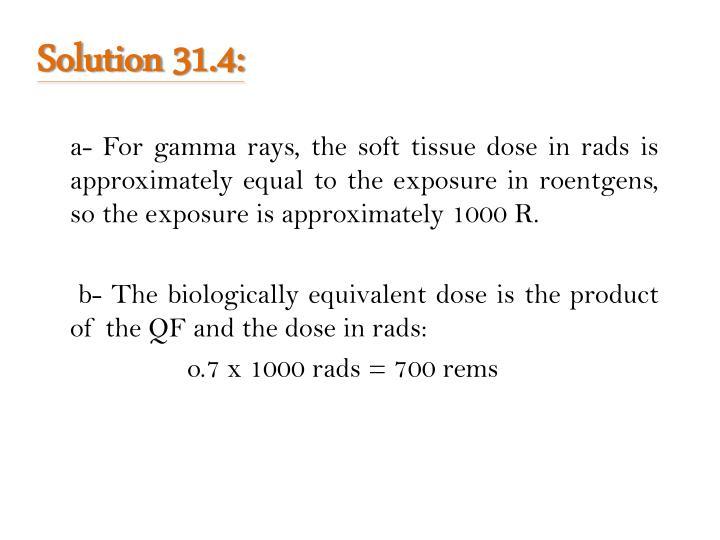Solution 31.4: