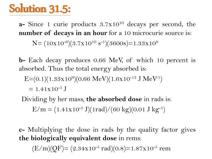 Solution 31.5: