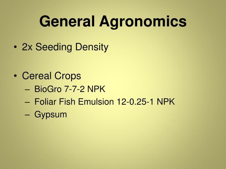 General Agronomics