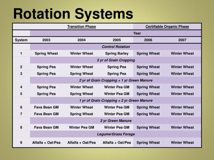 Rotation Systems