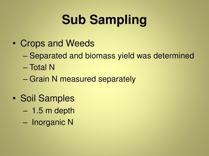Sub Sampling