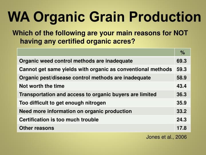 WA Organic Grain Production