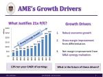 ame s growth drivers