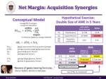 net margin acquisition synergies