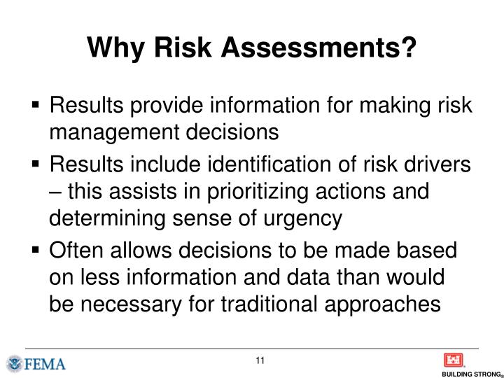 Why Risk Assessments?