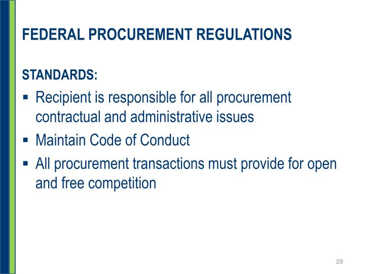 FEDERAL PROCUREMENT REGULATIONS