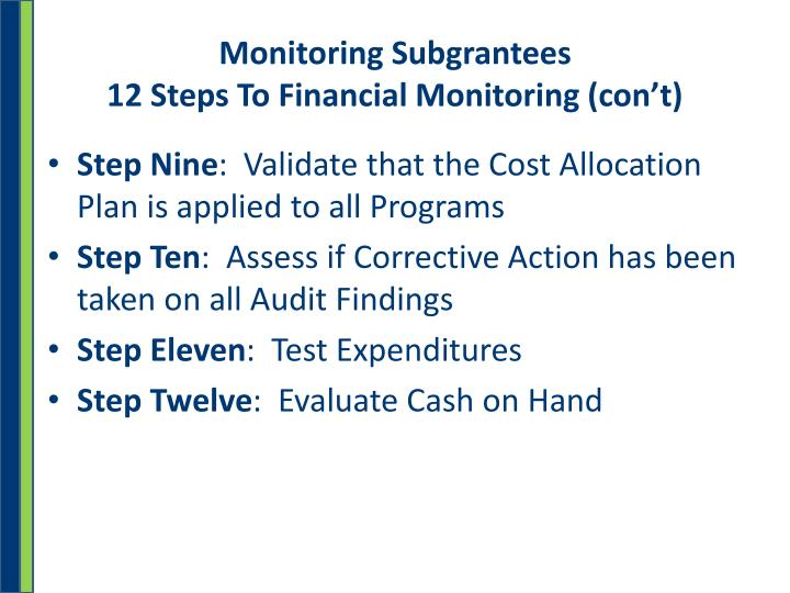 Monitoring Subgrantees