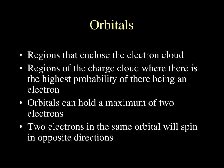 Regions that enclose the electron cloud