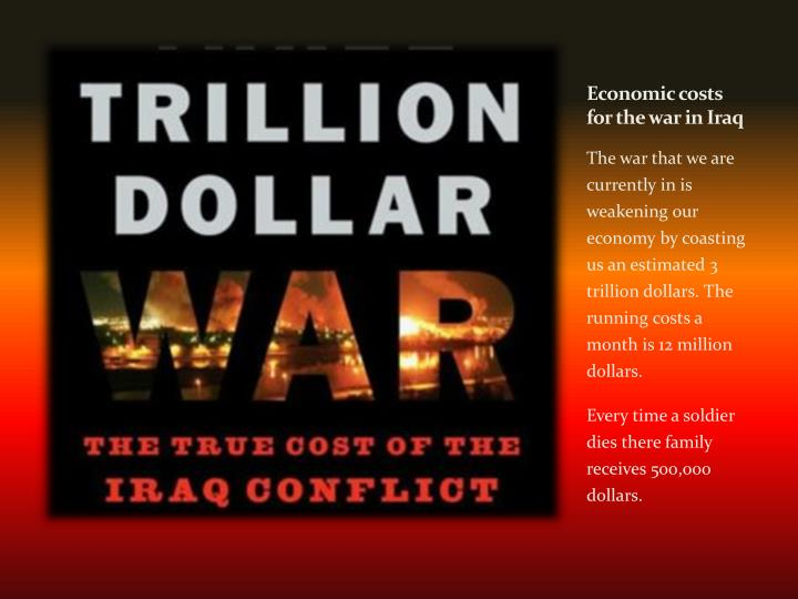 Economic costs for the war in Iraq