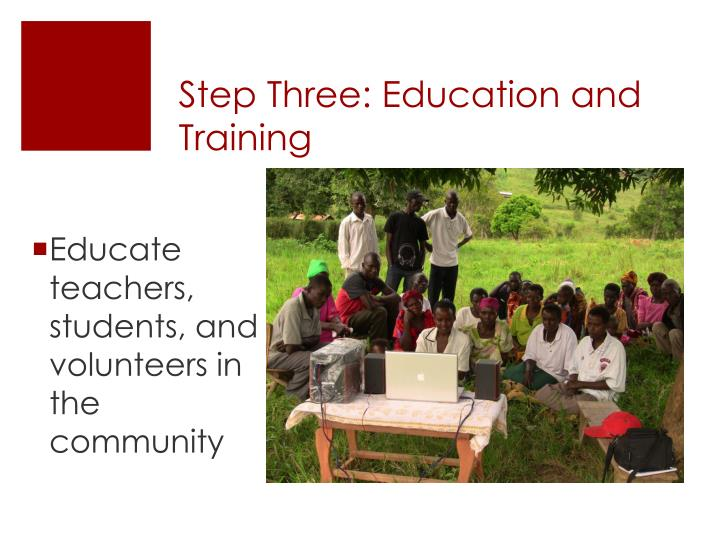 Step Three: Education and Training