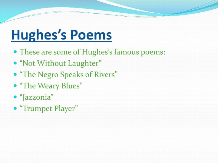 Hughes's Poems