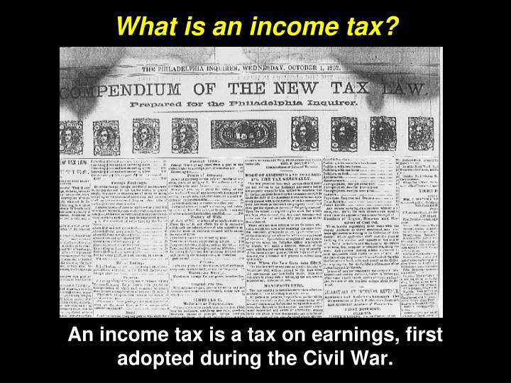 What is an income tax?