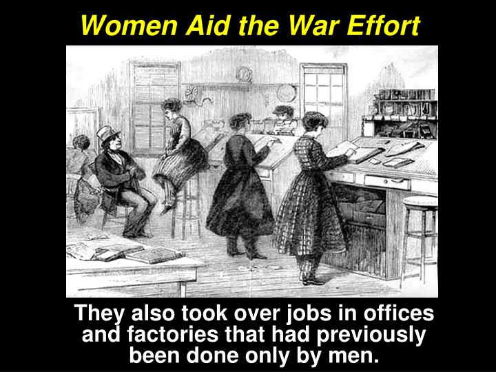 Women Aid the War Effort