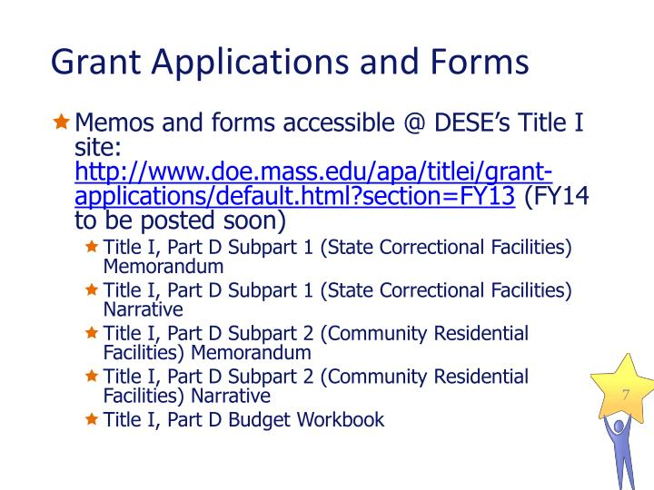 Grant Applications and Forms