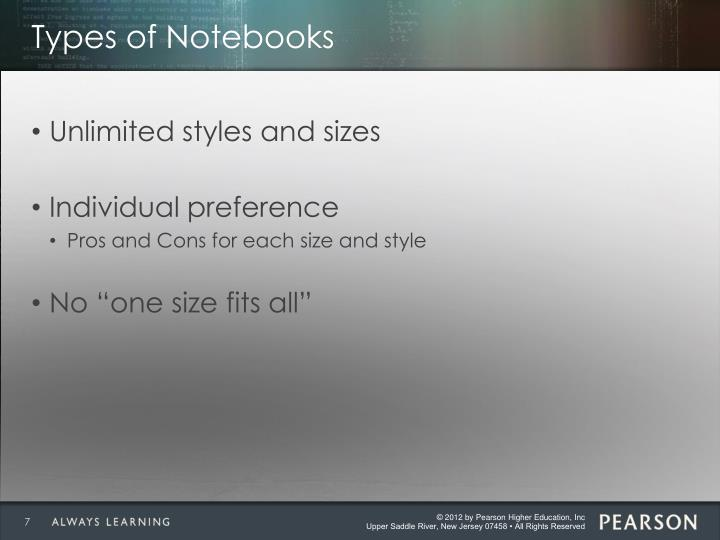 Types of Notebooks