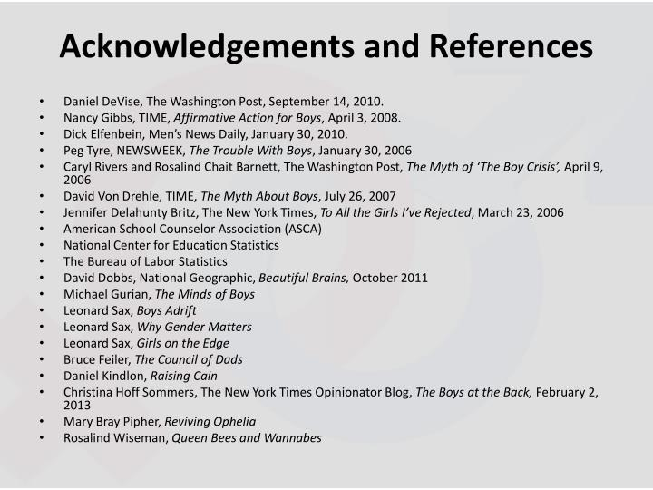 Acknowledgements and