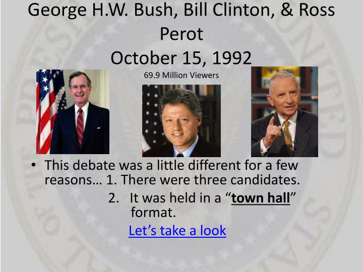 George H.W. Bush, Bill Clinton, & Ross Perot