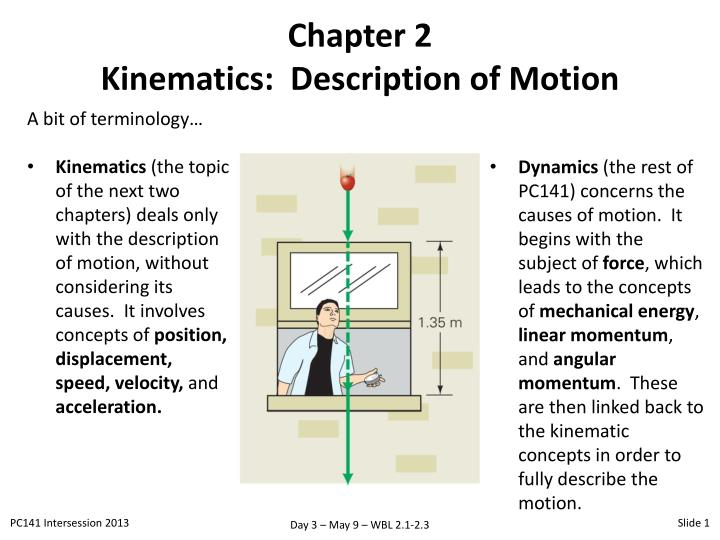 Chapter 2 kinematics description of motion
