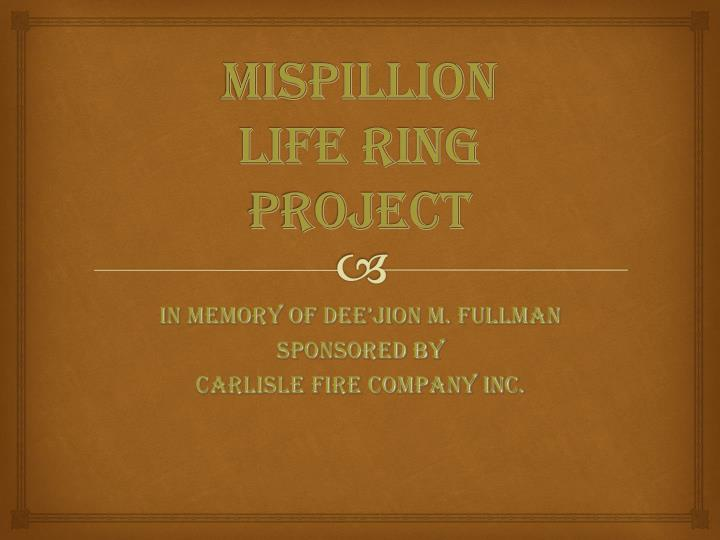 Mispillion life ring project