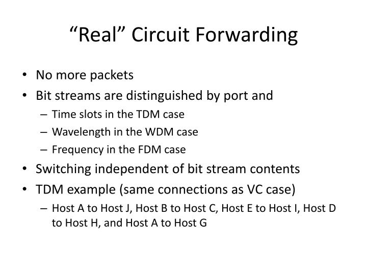 """Real"" Circuit Forwarding"