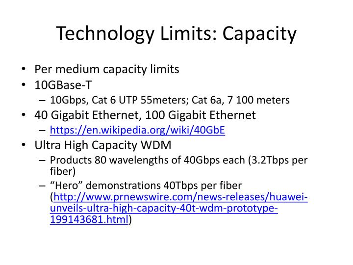Technology Limits: Capacity