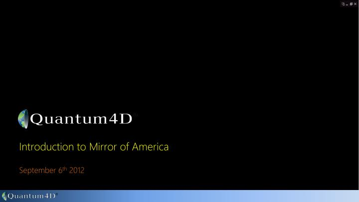 Introduction to mirror of america