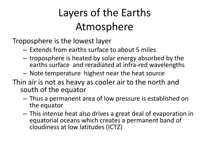 Layers of the Earths